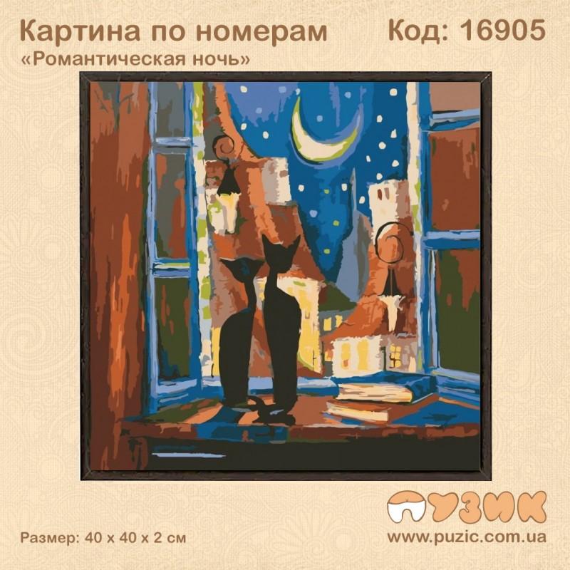 Картина по номерам «Романтична ніч»