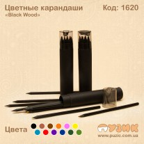 """Набор цветных карандашей  12 цветов """"Черное дерево"""""""