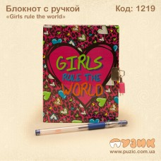 "Блокнот ""Girls rule the world"" с ручкой"