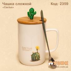 """Чашка с ложкой """"Cactus"""""""