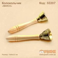 Колокольчик с деревянной ручкой (2 шт.)