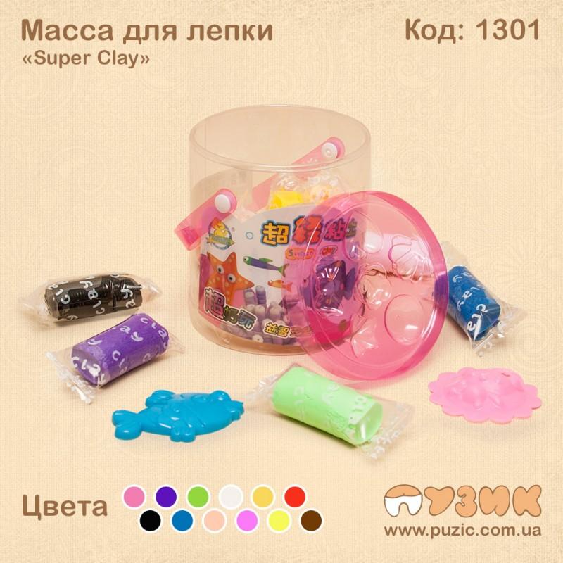 Масса для лепки «Super Clay» 12 цветов