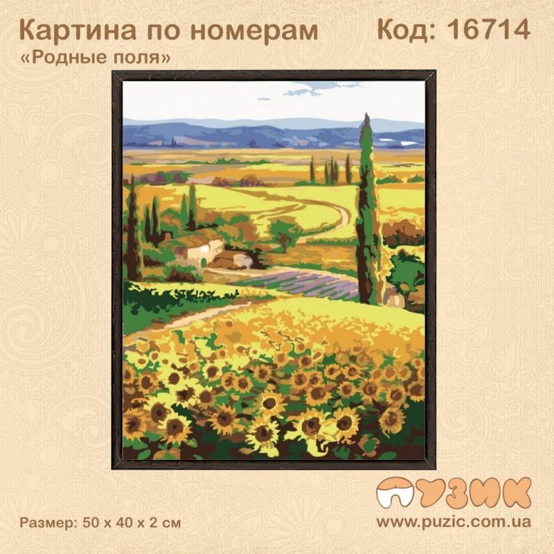 Картина по номерам «Родные поля»
